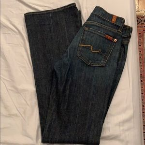 7 Jeans boot cut.  Size 26.  Hardly ever worn